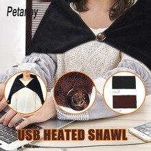 office Car Home Electric Warming Heating Blanket Pad Shoulder Neck Mobile Heating Shawl USB Soft 5V 4W Winter Soft Heated Warm цена в Москве и Питере