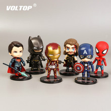 5pcs Super Hero Toys Car Pendant Accessories for Girls Action Anime Doll Ornaments Dashboard Decoration