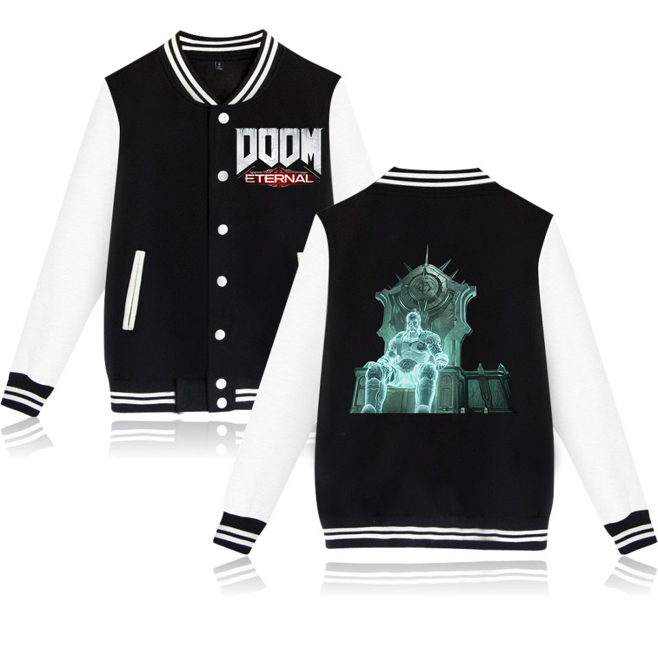 2016 Latest The Legend DOOM Baseball Uniform Men/Women Plus Size Jacket Cotton Tracksuit Hoodies Hip Hop Brand Clothing image