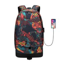 Large Capacity Men Backpack Basketball Bag For Students USB  Backpack Boys Knapsack Waterproof Travel Computer Schoolbag