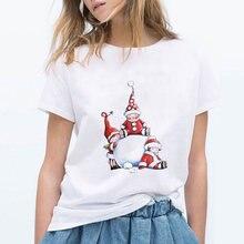 Одежда kpop женская футболка с рождественским принтом эльфа