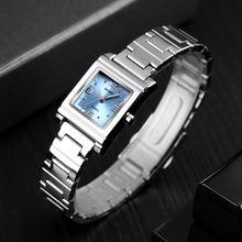 Роскошные Кварцевые женские часы skmei с квадратным креативным