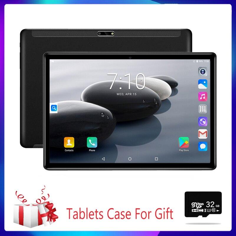 Novo 10.1 polegadas tabuletas quad core 3g telefone chamada 2 gb/32 gb wifi bluetooth 4.0 duplo sim câmera google sistema 9.0 2.5d aço tablet pc