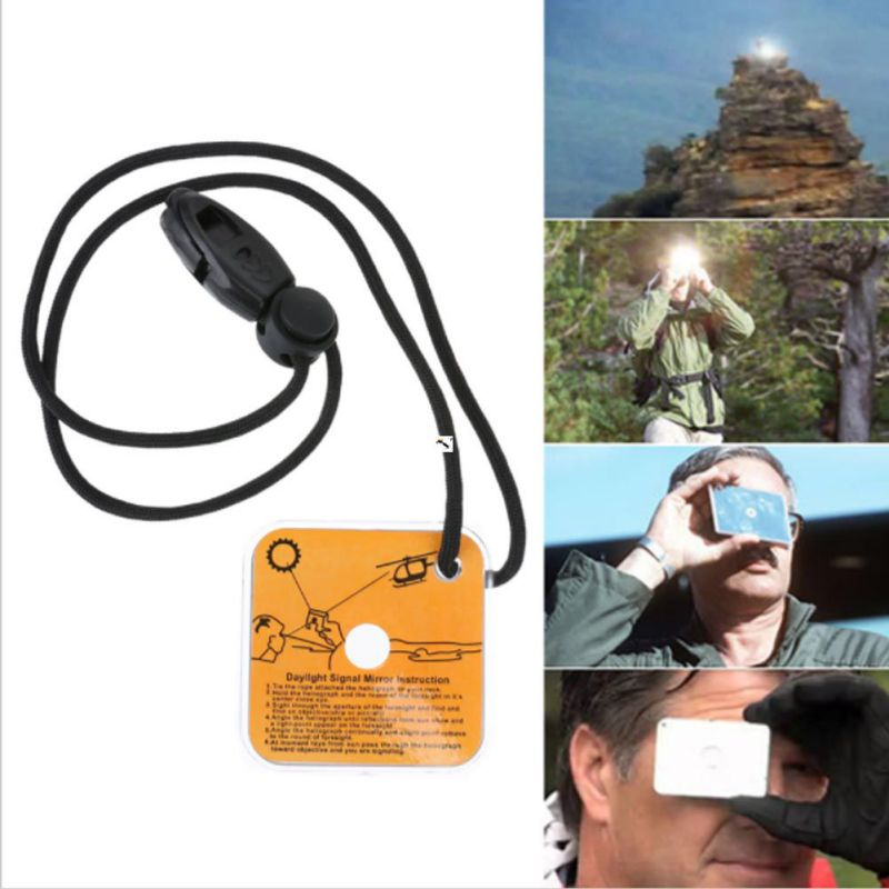Outdoor Survival Mirror Practical Emergency Kit Reflective Hiking Survival Signal Mirror