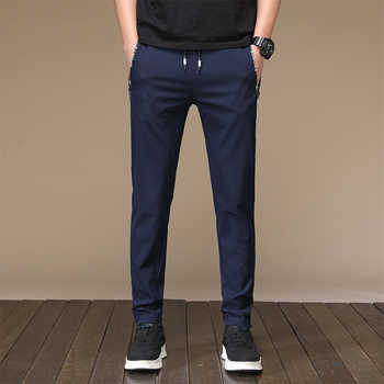 HCXY 2019 high quality Men's Casual Pants Men Spring Summer Trousers Male Pants Mens Elastic waist Waterproof Fast-drying 28-38 - DISCOUNT ITEM  49% OFF All Category