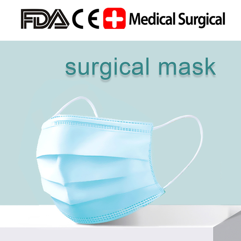 50/100pcs Disposabl Medical Surgical Mask 3 Layer Filter Non-woven Personal Protection Mask Facial Disposable Masks