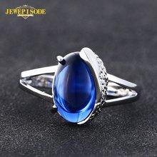 Женское кольцо с сапфиром jewepisode ювелирное изделие из серебра