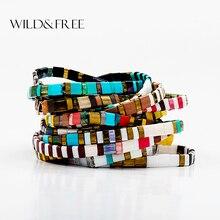 Дикие и свободные 16 цветов Boho Miyuki бусины браслеты для женщин летние пляжные Ювелирные изделия дружба Pulseira Mujer ручной работы