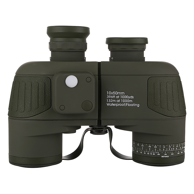Image 3 - 10x50 Binoculars Nautical Compass Waterproof Telescope with Night Vision HD Professional Optical Telescope Military Standard-in Monocular/Binoculars from Sports & Entertainment