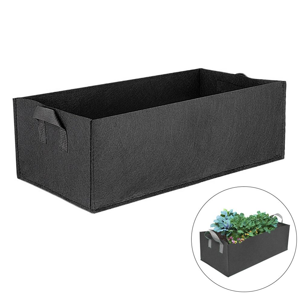 1pcs Fabric Raised Garden Bed Square Garden Flower Grow Bag Vegetable Planting Bag Planter Pot With Handles For Plants Flower