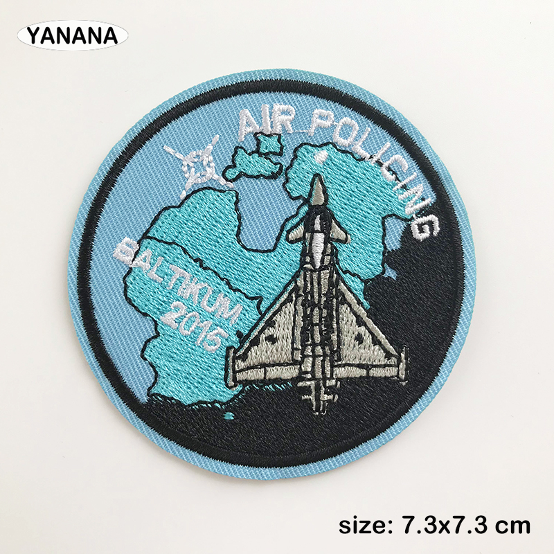 Jet aircraft fighter plane embroidery with badges Iron on Patches for Clothing DIY Hobby collection in Badges from Home Garden