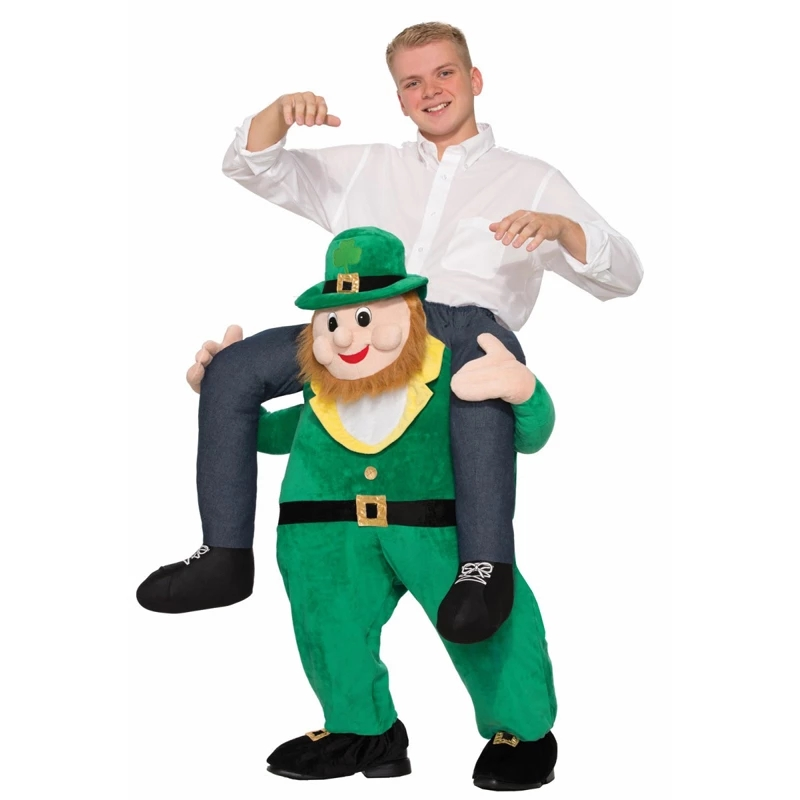 Happy St. Patrick's Day Green Elf Novelty Ride on Toys Horse Funny Animal Pants Oktoberfest Party Clothes with Shamrock Hat