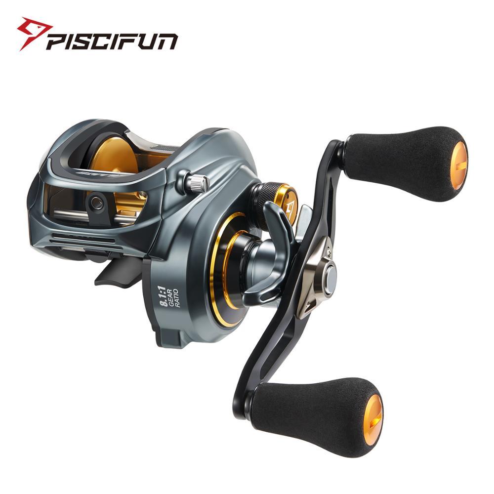 Piscifun Alijos 300 Low Profile Baitcasting Reel 15KG Max Drag 8+1 Bearings Aluminum Frame Freshwater Saltwater Fishing Reel