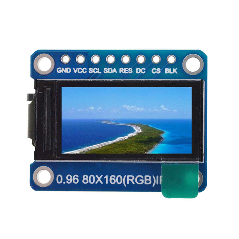 Ips 0.96 Inch 8 Pin Spi Hd 65K Full Color Tft Module St7735 Drive Ic 80 X 160 Lcd Display 3.3V Spi Interface For Arduino Diy