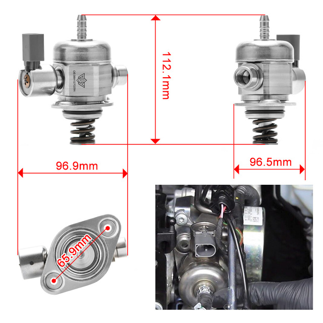 Pressure Fuel Pump OEM Mechanical Made For VW MK5 MK6 Beetle CC Jetta Passat Tiguan Audi A3 2.0 TSI Engine 06H127025N 06H127026