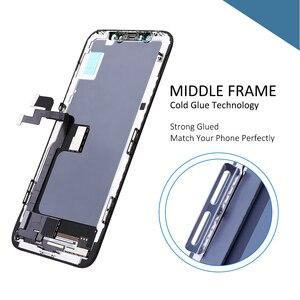 Image 3 - 10 adet en kaliteli ekran iPhone X XR XS lcd ekran OEM 1:1 dokunmatik Panel ekran Digitizer meclisi OLED yedek LCD
