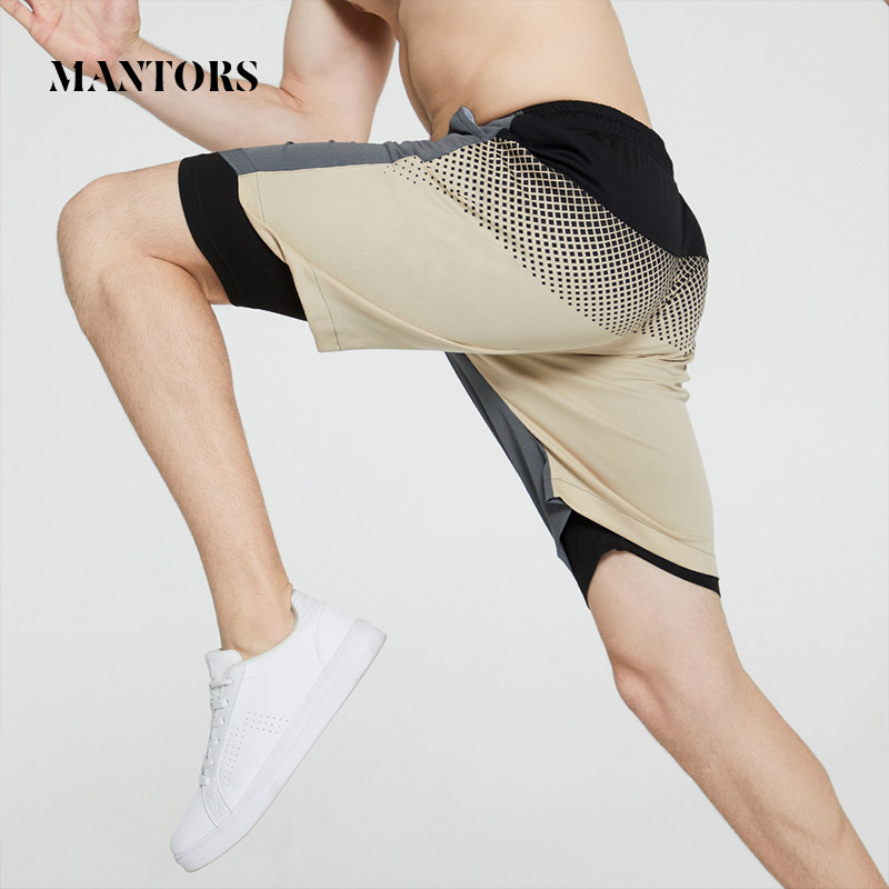 New Brand Men Casual Shorts 2020 Summer Shorts Splice Double-Deck Mens Sportswear Breathable Running Gyms Joggers Short Pants
