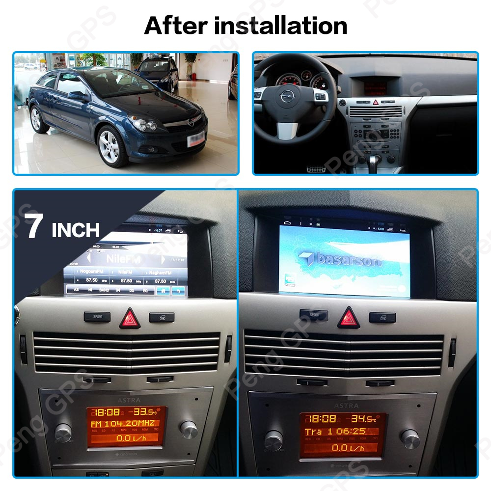 Car GPS navigation No DVD multimedia For Opel Astra H 2006-2012 stereo 2 DIN radio Head Unit Android 8.1 in dash audio