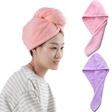 Женская ванная комната супер абсорбент быстросохнущее плотное микрофибровое банное полотенце для волос сухая шапочка для взрослых toallas microfibra toalha de banho