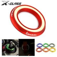 Motocicleta luminoso interruptor de ignição tampa do anel gurad protetor vermelho para vespa gts sprint primavera lx lxv 50 125 250 300 150