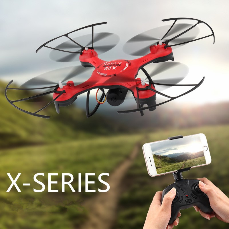 WIFI FPV RC Drone X20 2.4G 100M Distance sans tête Mode 3D cascade une clé pour retourner hélicoptère RC avec lumière LED jouet cadeau enfant