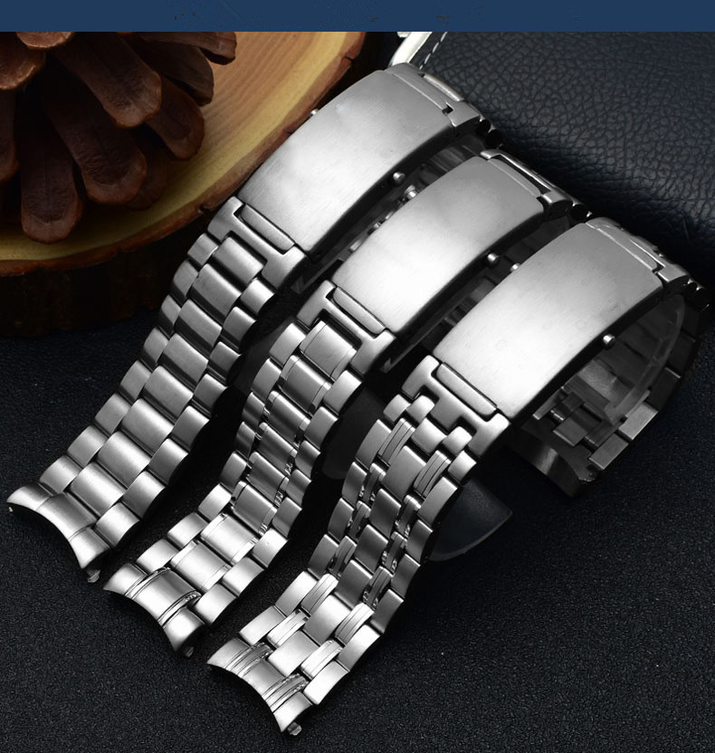 Watchband Polish Stainless Steel Wristband 20mm 22mm  Steel  Watch Accessories Replacement For omega strap 007 for Seamaster 300