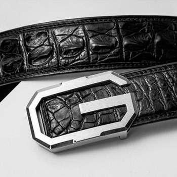 yuee Real crocodile men belt fashion business male  leather leisure