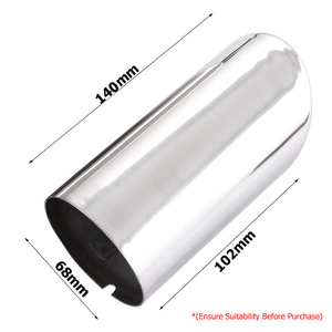 Image 5 - 2pc Exhaust Muffler Tips For VW Polo 6R Bora Golf 5 6 7 Mk7 Scirocco 1.4T Tiguan 1 Tail Pipe Tailpipe Finisher End Trim Cover