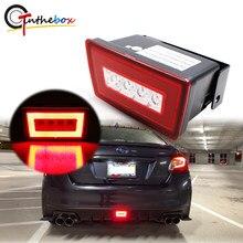 Gtinthebox 3-em-1 carro led luz de nevoeiro traseira cauda/luz de freio backup reverso kit lâmpada para subaru impreza wrx/sti ou xv crosstrek