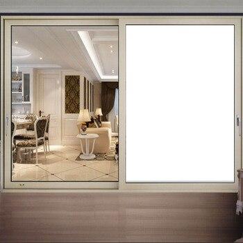 Pegatina de celofán para ventana de privacidad, película de vidrio de aislamiento, protector solar autoadhesivo para balcón, color blanco opaco