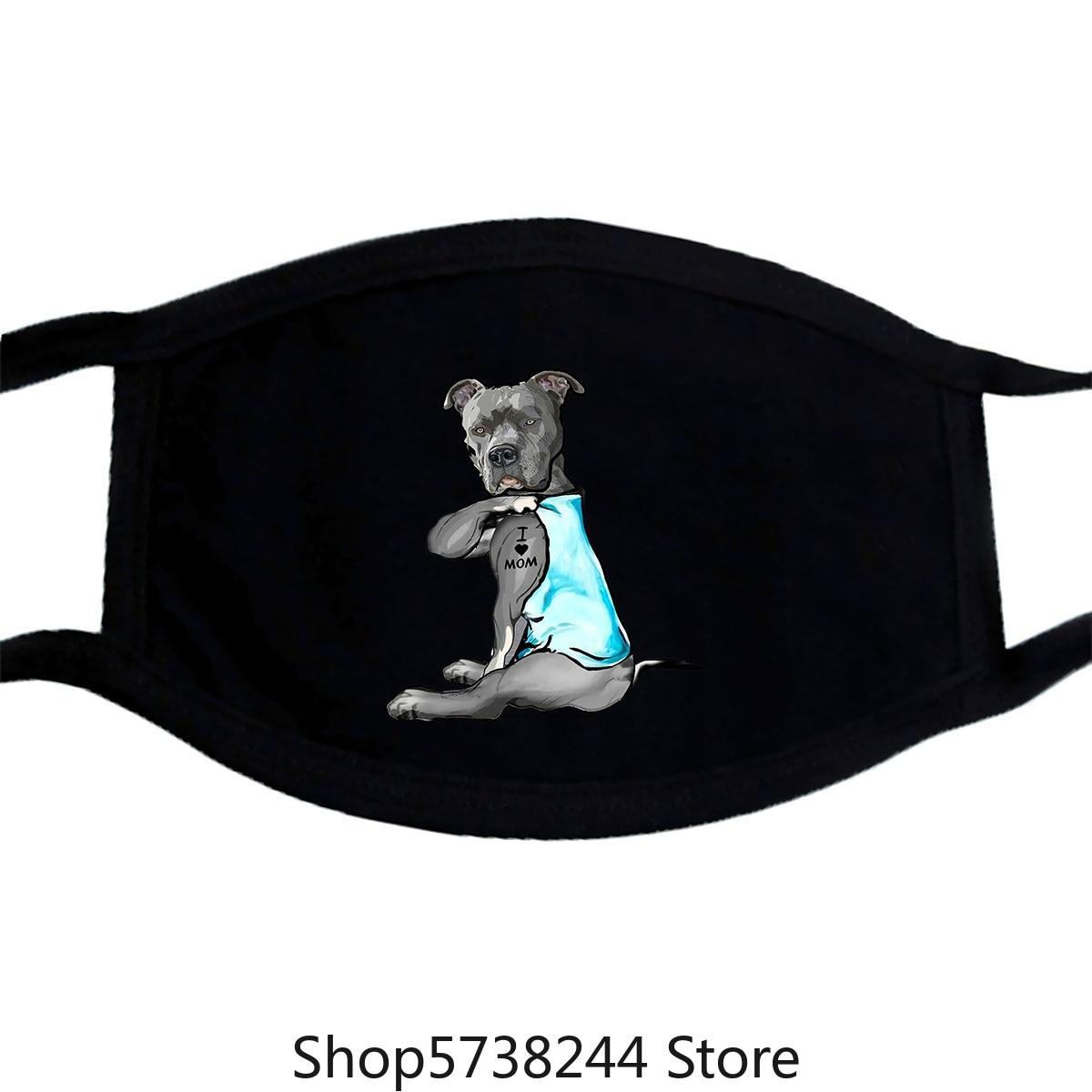 Just A Dog Lover Mask Colorful Pattern Washable Reusable Mask For Unisex Black