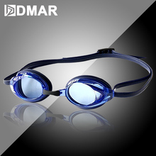 DMAR Electroplat Swimming Goggles Anti-Fog Diving Eyewear professional Waterproof silicone glasses