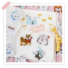 30packs/lot Meng Pet Big Collection Stationery Stickers Diary Boxed Decoration DIY Scrapbooking Label Sticker For Children