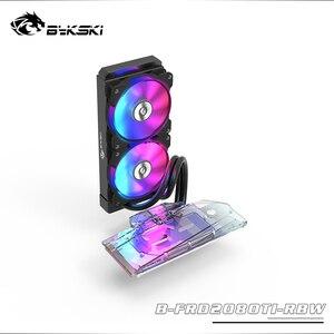 Bykski gpu bloco de água para nvidia geforce rtx 2080ti/2080 fundadores edição com 240mm radiador/bomba/2 pces ventilador A-RGB led luz