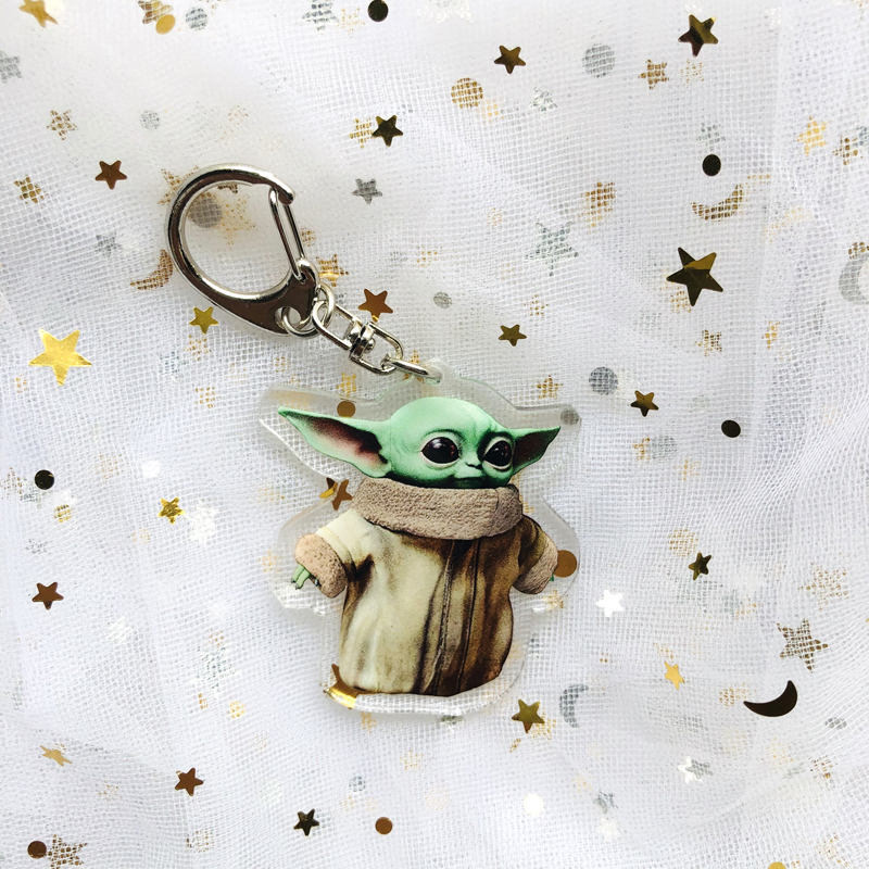 Yoda Baby Pendant Creative Car Key Chain Toy Key Ring Men's And Women's Key Ring Ring Bag Ornaments