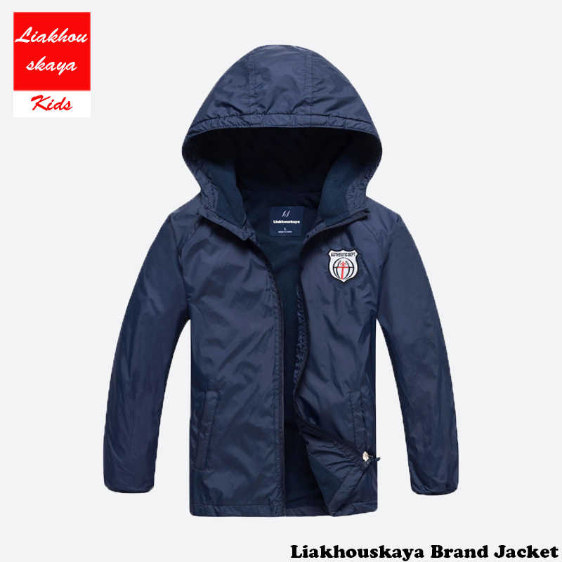 2018 модная брендовая детская флисовая куртка для мальчиков и девочек детское пальто с капюшоном, водонепроницаемые ветровки, куртки для мальчиков От 4 до 15 лет, весна-осень