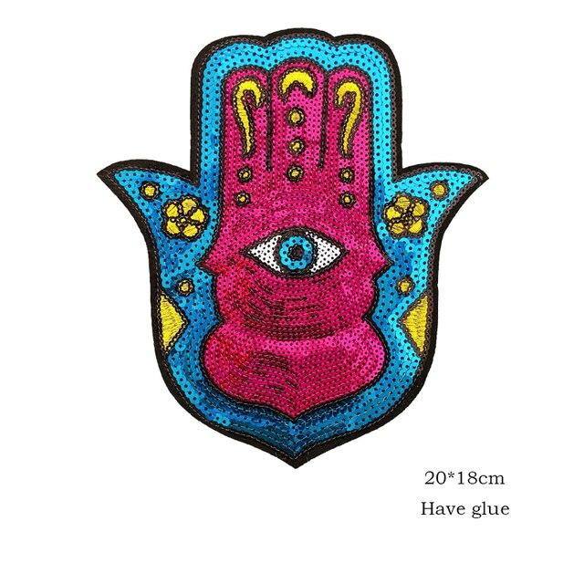 Parches de lentejuelas para la mano, insignias para ropa de parches bordada, insignias para la mochila, planchado, venta al por mayor 6