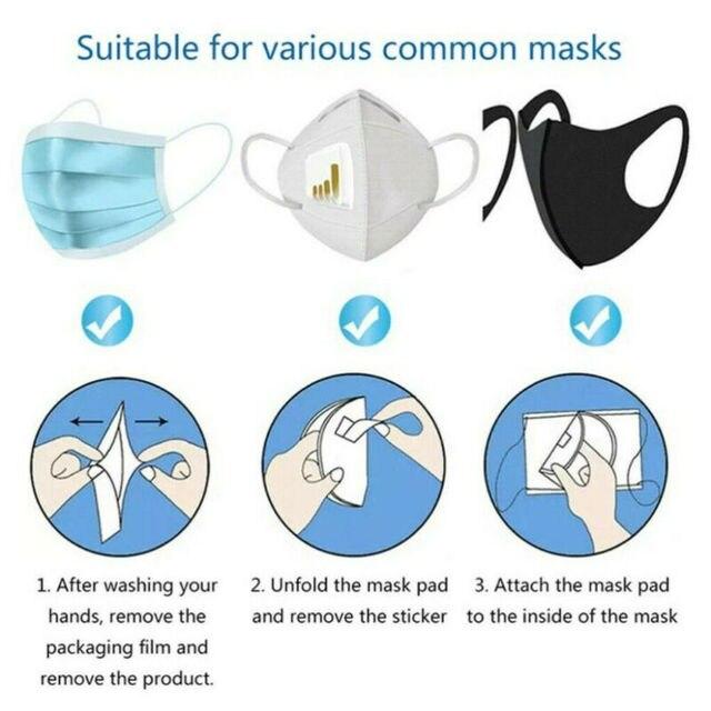10PCS Disposable Protective Face Mask Gasket Anti Virus Flu Face Mask Filter Pad Scarf 3