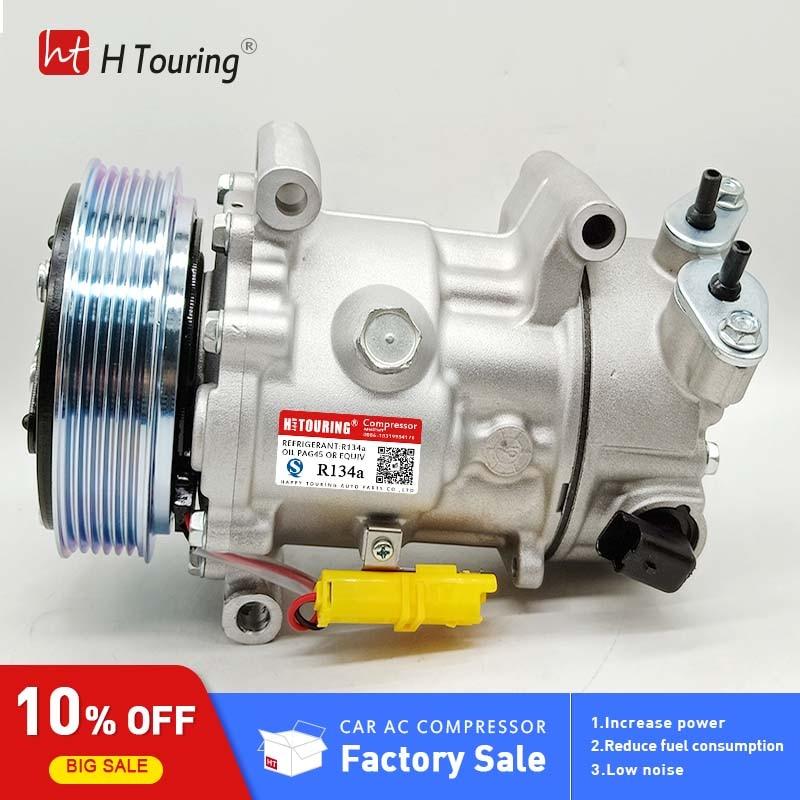 SD7C16 Compressor for Peugeot 307 308 807 607 406 Citroen C4 fiat Lancia 1321F 1390E 1321 1309F 9656483580 96598758 1608473380