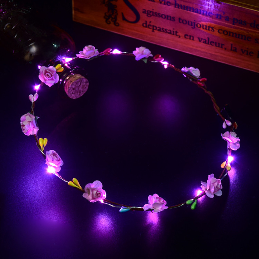 El LED Club Party Concert Light Up Bright Flash Glowing Hairband Flexible hair clips for girls headband accessories 2019 Fashion