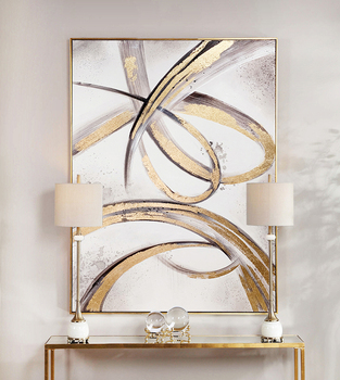 2015 special offer direct selling freeshipping no 50x50 oil square cuadros wall pictures for living room quadros high quality 35 High quality hand painted Modern Abstract Oil Painting Wall Art Canvas Painting Gold Pictures for Living Room hotel wall Decor