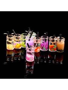 Pendant Charms Earring Necklace-Accessories Glass Drink-Bottle Jewelry-Making Transparent