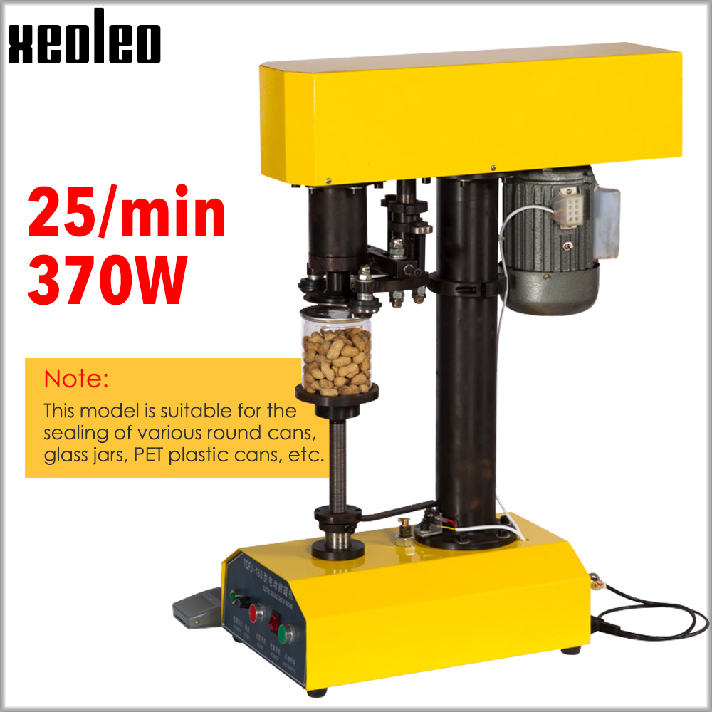 XEOLEO Automatic Electric Can Sealer Automatic can sealing machine for 39-150mm mouth/39-200mm high Tin Can suit Drink/Milk tea