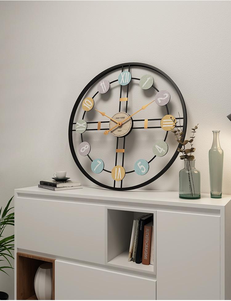 Metal Wall Clock Home Wall Decor Hanging 3D Wall Digital Clocks Living Room Decoration Modern Design Decorative Mute Clock Art (2)