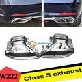 Хорошее качество! Автомобильные задние наконечники из нержавеющей стали с двойным выхлопом  модифицированные как Mayb * ch fit Be * z S Class S500  S320  S350 ...