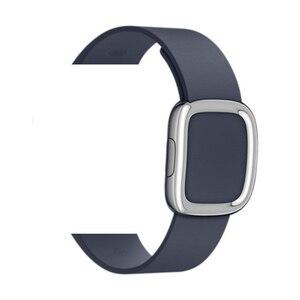 Image 5 - Bracelet en cuir véritable pour bracelet de montre Apple 4 5 44mm 40mm bandes de boucle modernes pour iwatch série 3 2 1 bracelet 42mm 38mm
