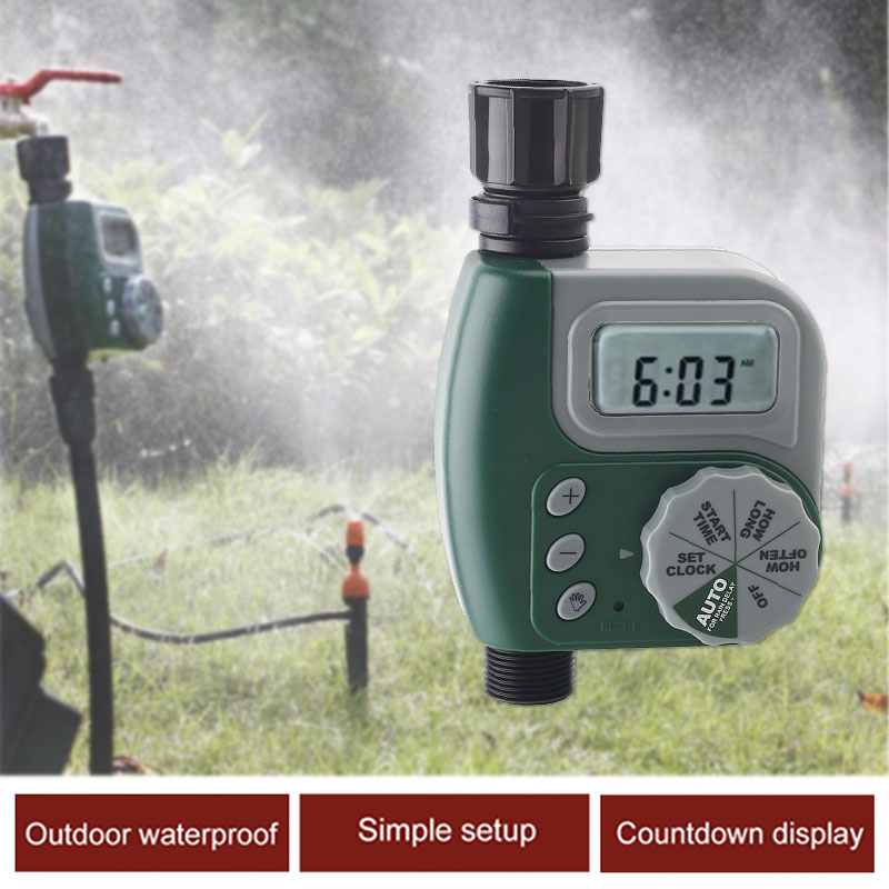Garden Irrigation Controller Hose 17*10*4.5CM Garden Water Timers Courtyard Watering Timer Gray Economic Timing Home Plastic|Garden Water Timers| |  - title=