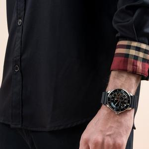 Image 4 - Récif tigre/RT Sport montres pour hommes bracelet en Nylon automatique Super lumineux en acier montre de plongée avec Date RGA3035