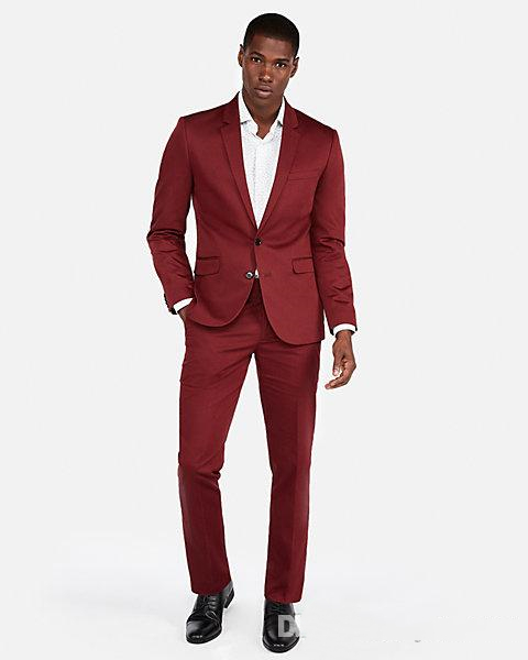 2019-dark-red-wedding-tuxedos-slim-fit-suits-for-men-groomsmen-suit-two-pieces-cheap-prom-formal-suits-(jacket-+pants) (1)