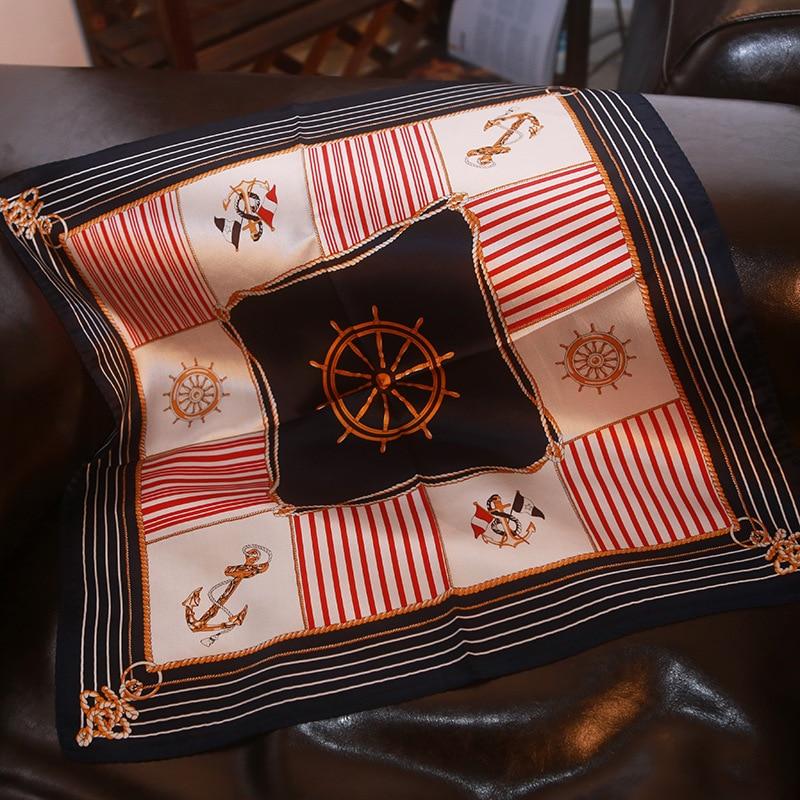 New Silk Scarf Silk Scarf Anchor Silk Square/silk Scarf/professional Silk Scarf